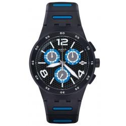 Acquistare Orologio Uomo Swatch Chrono Plastic Black Spy SUSB410 Cronografo