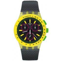 Acquistare Orologio Unisex Swatch Chrono Plastic Yel-Lol SUSJ402 Cronografo
