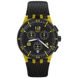 Orologio Unisex Swatch Chrono Plastic Yellow Tire SUSJ403 Cronografo