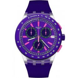Orologio Unisex Swatch Chrono Plastic Purp-Lol SUSK400 Cronografo