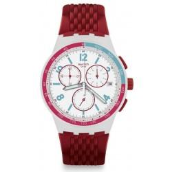 Acquistare Orologio Unisex Swatch Chrono Plastic Red Track SUSM403 Cronografo