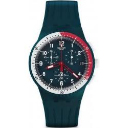 Orologio Uomo Swatch Chrono Plastic El Comandante SUSN405 Cronografo