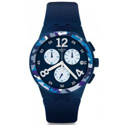 Acquistare Orologio Uomo Swatch Chrono Plastic Camoblu SUSN414 Cronografo