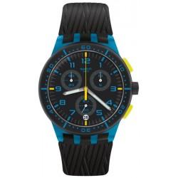 Orologio Unisex Swatch Chrono Plastic Blue Tire SUSS402 Cronografo