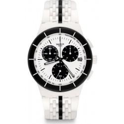 Acquistare Orologio Unisex Swatch Chrono Plastic Piste Noire SUSW407 Cronografo