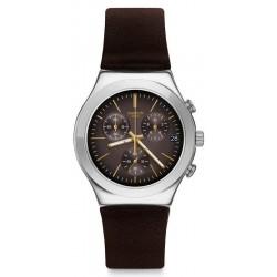 Orologio Uomo Swatch Irony Chrono Brownflect YCS600 Cronografo