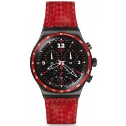 Orologio Uomo Swatch Irony Chrono Rosso Fuoco YVM401 Cronografo