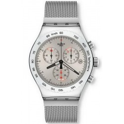 Orologio Uomo Swatch Irony Chrono Silverish YVS405G Cronografo