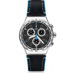Orologio Uomo Swatch Irony Chrono Blue Details YVS442 Cronografo