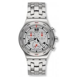 Orologio Unisex Swatch Irony Chrono Silver Again YVS447G Cronografo