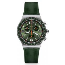 Orologio Unisex Swatch Irony Chrono Forest Grid YVS462 Cronografo
