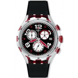 Orologio Uomo Swatch Irony Xlite Red Wheel YYS4004 Cronografo